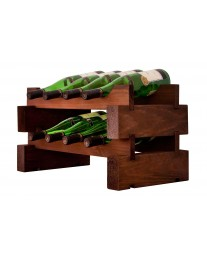 2 x 4 Bottle Modular Wine Rack