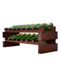 2 x 7 Bottle Modular Wine Rack