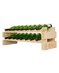 2 x 8 Bottle Modular Wine Rack