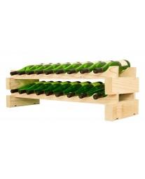 2 x 9 Bottle Modular Wine Rack