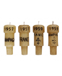 Epicureanist Champagne Cork Candles (Set of 4)