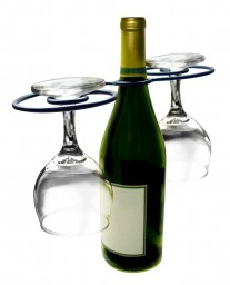 Epicureanist Swirl Wine Bottle and Glass Holder