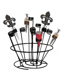 Epicureanist Swirl Wine Bottle Stopper Rack