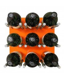 9 Bottle Acrylic Peg Wine Racks