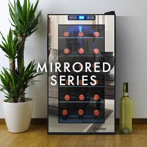 Mirrored Wine Coolers